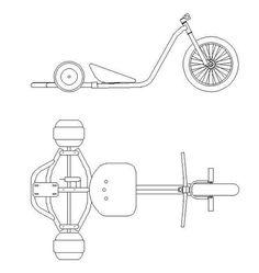 Bike Drift, Drift Trike Frame, Big Wheel Trike, Drift Trike Motorized, Custom Trikes, Solar Car, Bicycle Art, Karting, Bike Style