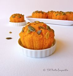 Muffins con zucca, mandorle e arancia candita
