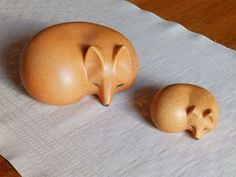 Lisa Larson Signed Fox and young cub from the Skansen Series made for Gustavsberg of Sweden, a mid-century modern design  ADL-014 on Etsy, $267.01