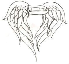 Angel wing halo tattoo