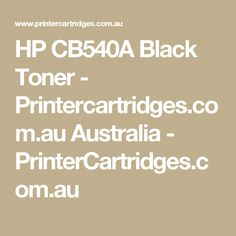 HP CB540A  Black Toner - Printercartridges.com.au Australia  - PrinterCartridges.com.au
