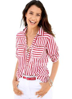 Striped Print V-Neck blouse for work women blouse for work business blouse for work casual blouse for work chic blouse for work classy blouse for work workwear blouse outfit blouse fashion Striped Long Sleeve Shirt, Long Sleeve Shirts, Bluse Outfit, Satin Bluse, Loose Shirts, V Neck Blouse, Look Chic, Street Chic, Casual Tops