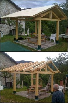 To Build A Gazebo Want Your Own Backyard Getaway? Why Not Learn How to Build a Gazebo?Want Your Own Backyard Getaway? Why Not Learn How to Build a Gazebo? Hot Tub Gazebo, Building A Pergola, Backyard Gazebo, Pergola Canopy, Backyard Patio Designs, Outdoor Pergola, Pergola Designs, Pergola Kits, Backyard Landscaping