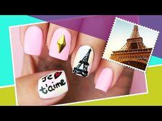 Paris Inspired Nail Art ∞ The World At Your Fingertips w/ cutepolish - YouTube