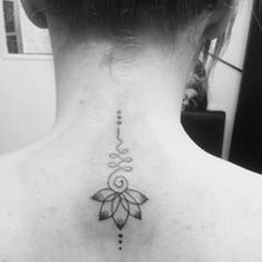 unalome-lotus-flower-back-of-neck-tattoo-for-girls