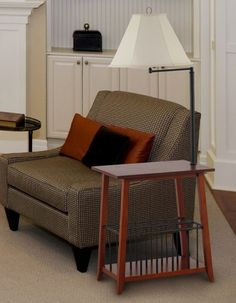 Magazine Rack With Attached Lamp · End Table ...