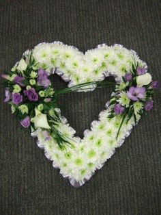Open Heart with Lilac Lisianthus and Calla Lily Spray