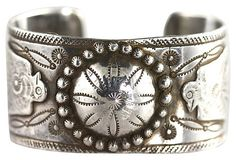 Early Navajo Stamp-Work Bracelet Sterling Silver – Yourgreatfinds