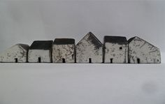 workman: s-c-r-a-p-b-o-o-k: Rowena Brown - Ceramic houses, glazed and raku fired.