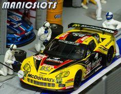 Slot cars, Scalextric Chevrolet Corvette C6R GT, C3288, 'Larbre Competition' GT2 winner Le Mans 2012