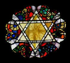 Image result for stained glass window magen david