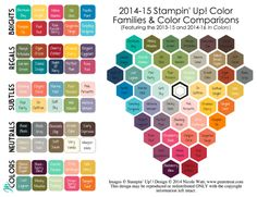 Stop by my blog to pick up a PDF download of my updated 2014-15 Stampin' Up! Color Comparison chart.  @PMRetreat #stampinup #reference
