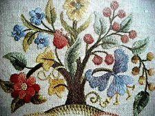 Elsa Williams Needlepoint Kits Vintage | MIP Vintage ELSA WILLIAMS Elegant JACOBEAN Floral Tree CREWEL ...
