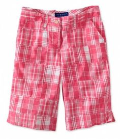 These Madras Plaid Crew Shorts are perfect for the active lady that wants to look her best!