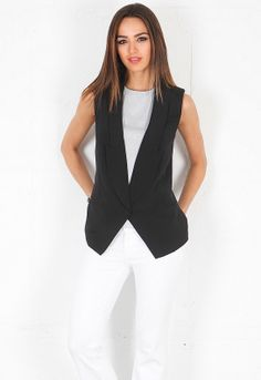 Haute Hippie Long Blazer Vest in Black  $375