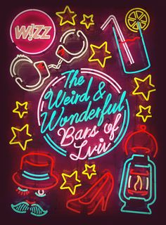 Illustrated Neon Signs by Thomas Burden - these are not neon. So cool.