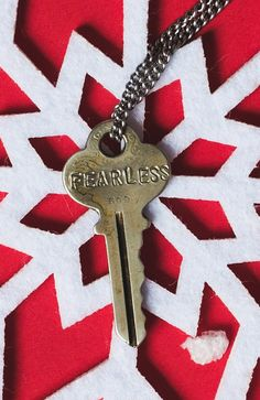 """This """"Fearless"""" Giving Key is a perfect gift this holiday season! #Sevenly"""