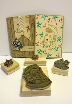 Stamps carved by Fiona Cullen