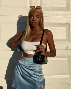 Mode Outfits, Trendy Outfits, Girl Outfits, Fashion Outfits, Pretty Black Girls, Beautiful Black Girl, Beautiful Outfits, Black Girl Fashion, Look Fashion