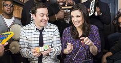 """Jimmy Fallon and Idina Menzel Do """"Let It Go"""" With Classroom Instruments...and it's kinda amazing."""