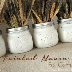 Painted Jar Fall Centerpiece