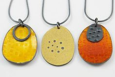 Contemporary silver and enamel jewellery, individually designed and crafted.