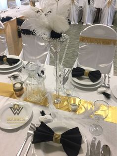 Gatsby Wedding, Art Deco Fashion, Table Settings, Table Decorations, Home Decor, Style, Swag, Decoration Home, Room Decor