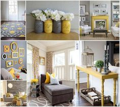 Yellow and grey room accessories style your living room gorgeous gray and yellow grey decor ideas . Yellow Living Room Accessories, Grey And Yellow Living Room, Grey Room, Yellow Bed, Bedroom Yellow, Blue Yellow, Blue Grey, Living Room Decor Styles, Grey Interior Design