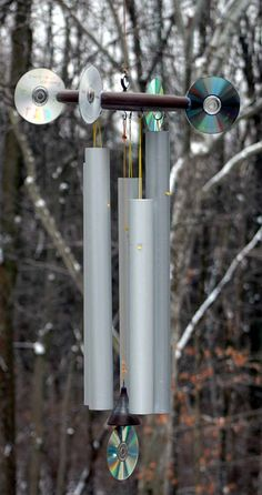 DIY wind chimes. Explains what lengths produce different musical octaves, frequencies, different properies of various metal tubing etc.