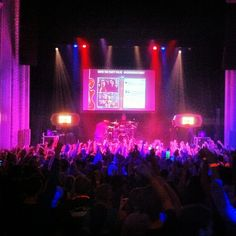 Chiddy Bang working the crowd at the AXE One Night Only show