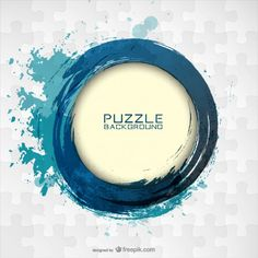 Vector puzzle free template design  Free Vector