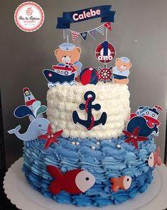 Sailor Baby Showers, Mickey Baby Showers, Boy Baby Shower Themes, Baby Shower Cakes, Baby Boy Shower, Boys 1st Birthday Party Ideas, Baby Boy 1st Birthday, Diy Birthday Decorations, Mickey Birthday