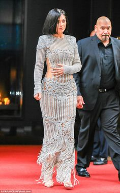 Kylie Jenner forgoes undergarments in metallic see-through gown at the Met Gala | Daily Mail Online