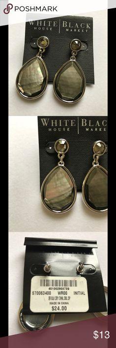 "WHITE HOUSE BLACK MARKET EARRINGS NWT WHBM PIERCED EARRINGS. APPROX 1 1/4"" DROP. SORRY NO TRADES. White House Black Market Jewelry Earrings"