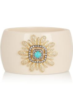Kenneth Jay Lane Gold-plated, crystal and resin bangle