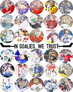 The Dynamic Duo of Halak and Elliott (only team with both goalies pictured) <3