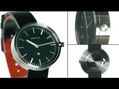 The Drummer watch by Newgate Watches. Minimalist black leather watch wit...