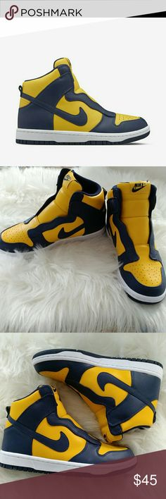 Nike women  size 6 New Nike Women Dunk Lux Sacai size 6  Midnight Navy, Canary yellow. Nike Shoes Sneakers