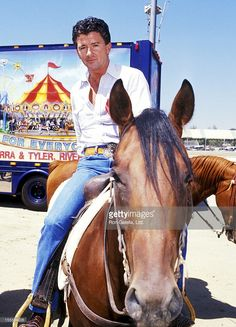 Actor Patrick Duffy attends the Ben Johnson Pro-Celebrity Rodeo on August 13, 1989 at Los Angeles Equestrian Center in Burbank, California.