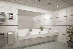 "Toilet room at an office building  design by dana shaked עיצוב חדר שירותים בבניין משרדים. חללים מוארים ומרווחים מעוצב ע""י דנה שקד"