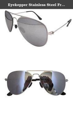 3d290c0ccc Eyekepper Stainless Steel Frame Silver Mirror Lens Pilot Kids Children  Sunglasses. Patent Design