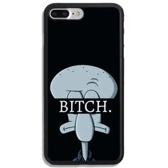 Squidward Tentacles Chill Bitch Print On Hard Cover Phone Case Protector For iPhone And Samsung Case Art Phone Cases, Funny Iphone Cases, Diy Phone Case, Phone Covers, Iphone 8 Plus, Iphone 6, Squidward Tentacles, Friends Phone Case, Coque Iphone