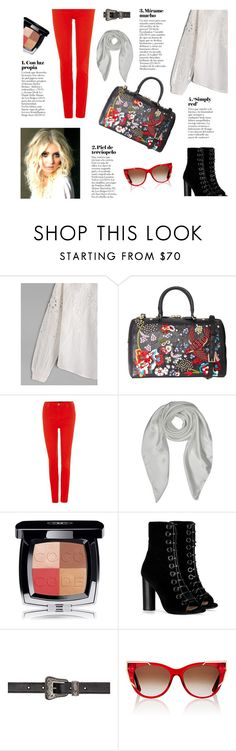 """SheIN: Spring White Blouse"" by tarparamu ❤ liked on Polyvore featuring Alice + Olivia, Lee, Forzieri, Chanel, Barbara Bui, Yves Saint Laurent and Thierry Lasry"