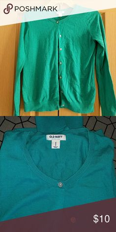 🎉🎉SALE🎉🎉 Old Navy Turquoise Cardigan Barely worn turquoise cardigan in great condition. Old Navy Sweaters Cardigans