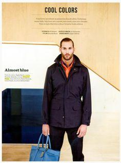 Revista Wish matéria Cool Colors  modelo usa scarf Etiqueta Negra laranja.