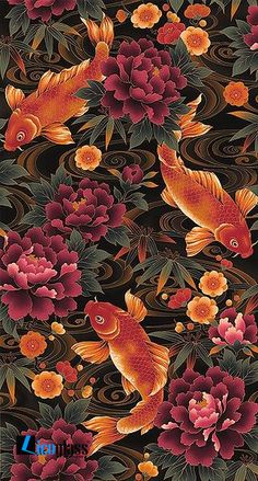 47 Trendy Ideas For Art Design Tattoo Colour Art Koi, Fish Art, Inspiration Art, Art Inspo, Interior Inspiration, Cute Wallpapers, Wallpaper Backgrounds, Japon Illustration, Art Asiatique