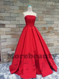 """Charming Prom Dress,A-Line Prom Dress,Satin Prom Dress,Strapless Prom Dress,Noble Prom Dress How to Order: How to choose color after purchase Step 1: click on """"Add to Cart"""" Step 2: choose check out Step 3: fill your Standard size or Custom size,to make perfect fit,we suggest fill your c..."""