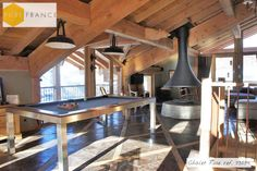 High end ski chalet in the French Alps, sleeps 12 with cinema, jacuzzi & sauna. Book with Pure France.