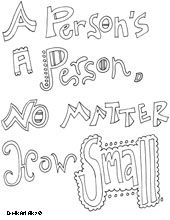 All Quotes Coloring Pages Dr Seuss Education Kindness