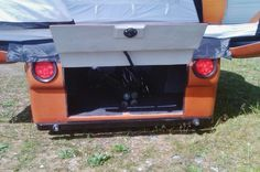 Locking rear storage area